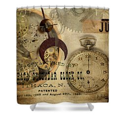 Clockworks Shower Curtain by Fran Riley