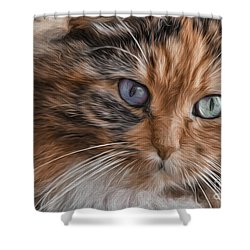 Cloe Kitty Shower Curtain