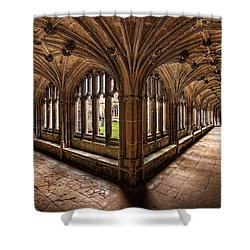 Cloisters At Lacock Abbey Shower Curtain