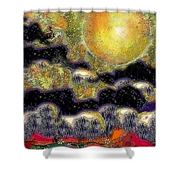Clonescape Moon Shower Curtain