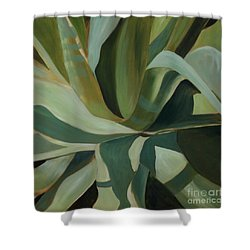 Shower Curtain featuring the painting Close Cactus by Debbie Hart