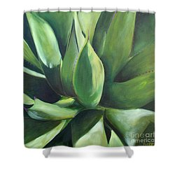 Close Cactus II - Agave Shower Curtain