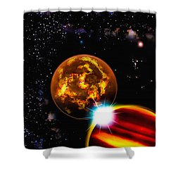 Shower Curtain featuring the photograph Close Together Far Apart by Naomi Burgess