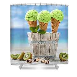 Close Up Ice Creams Shower Curtain
