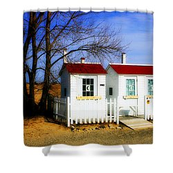 Closed For The Season Shower Curtain by Randy Pollard