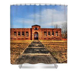 Closed School In Small Town Wv Shower Curtain by Dan Friend