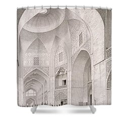 Cloth Market In Isfahan Shower Curtain by Pascal Xavier Coste