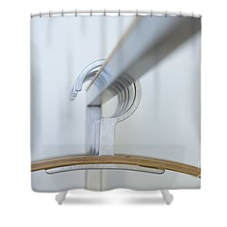 Clothes Hangers Shower Curtain by Mats Silvan