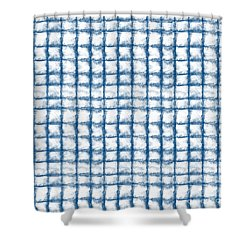 Cloud Boxes Shower Curtain by Linda Woods