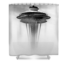 Cloud City 1962 Shower Curtain by Benjamin Yeager