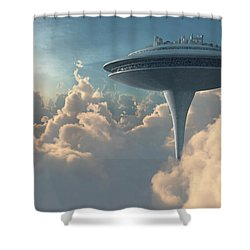 Cloud City Shower Curtain