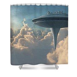 Cloud City Shower Curtain by Cynthia Decker