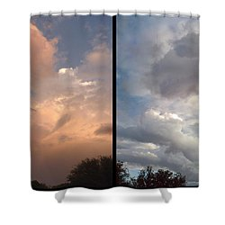 Cloud Diptych Shower Curtain by James W Johnson