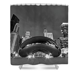 Cloud Gate And Skyline Shower Curtain by Adam Romanowicz
