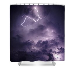 Shower Curtain featuring the photograph Cloud Lightning by James Peterson
