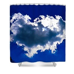 Cloud Shower Curtain by Nick Kirby