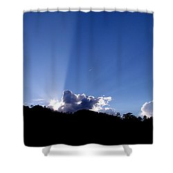 Cloud Rays Shower Curtain by Craig T Burgwardt