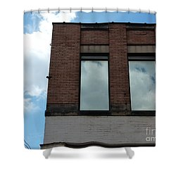 Cloud Reflection On Window Shower Curtain by Jane Ford