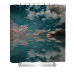 Shower Curtain featuring the photograph Cloud Reflections by John Stuart Webbstock