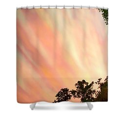 Shower Curtain featuring the photograph Cloud Streams by Charlotte Schafer