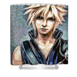Cloud Strife Shower Curtain