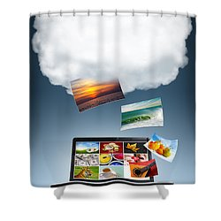 Cloud Technology Shower Curtain by Carlos Caetano