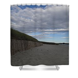 Clouded Beach Shower Curtain