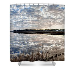 Clouded Reflection Shower Curtain by Joan McCool