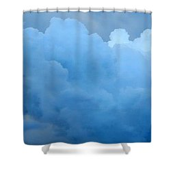 Clouds 2 Shower Curtain by Leanne Seymour
