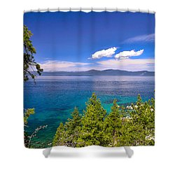 Clouds And Silence - Lake Tahoe Shower Curtain