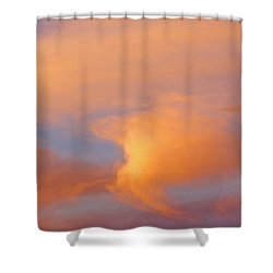 Clouds At Sunrise Shower Curtain by Dan Sherwood