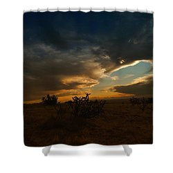 Clouds In New Mexico Shower Curtain by Jeff Swan