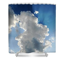 Clouds In The Sun Shower Curtain