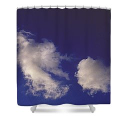 Shower Curtain featuring the photograph Clouds by Mark Greenberg