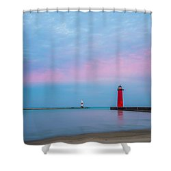 Shower Curtain featuring the photograph Clouds Of Cotton Candy by Steven Santamour