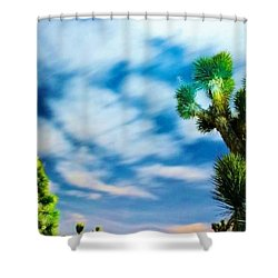 Shower Curtain featuring the photograph Clouds On The Move by Angela J Wright