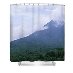 Clouds Over A Mountain Peak, Arenal Shower Curtain