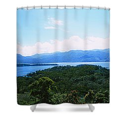 Clouds Over A Volcano, Arenal Volcano Shower Curtain