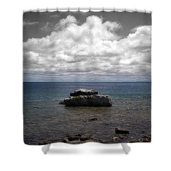 Clouds Over Georgian Bay - F2g Shower Curtain