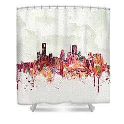 Clouds Over Houston Texas Usa Shower Curtain by Aged Pixel