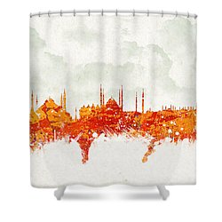 Clouds Over Istanbul Turkey Shower Curtain by Aged Pixel