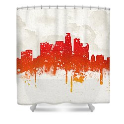 Clouds Over Los Angeles California Shower Curtain by Aged Pixel