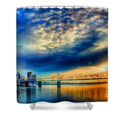 Clouds Over Louisville Shower Curtain by Darren Fisher