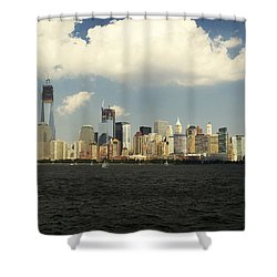 Clouds Over New York Skyline Shower Curtain