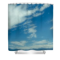 Clouds Over Priest Lake Shower Curtain by David Patterson