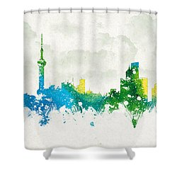 Clouds Over Shanghai China Shower Curtain by Aged Pixel