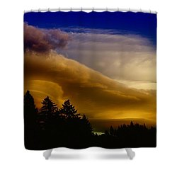 Clouds Over Southern Alberta Shower Curtain by Jeff Swan
