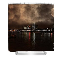 Clouds Over The River Thames Shower Curtain by Doc Braham