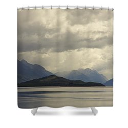 Shower Curtain featuring the photograph Clouds Over Wakatipu #2 by Stuart Litoff