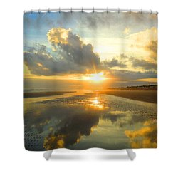 Clouds Reflection By Jan Marvin Shower Curtain